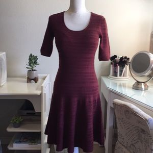 Burgundy sweater dress size small